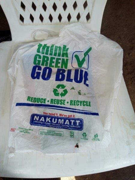 Plastic Bag Used As A Packpack